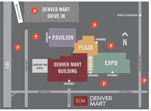 Denver Mart Parking Map